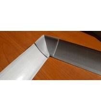 Вътрешен ъгъл за водобранна лайсна сив металик