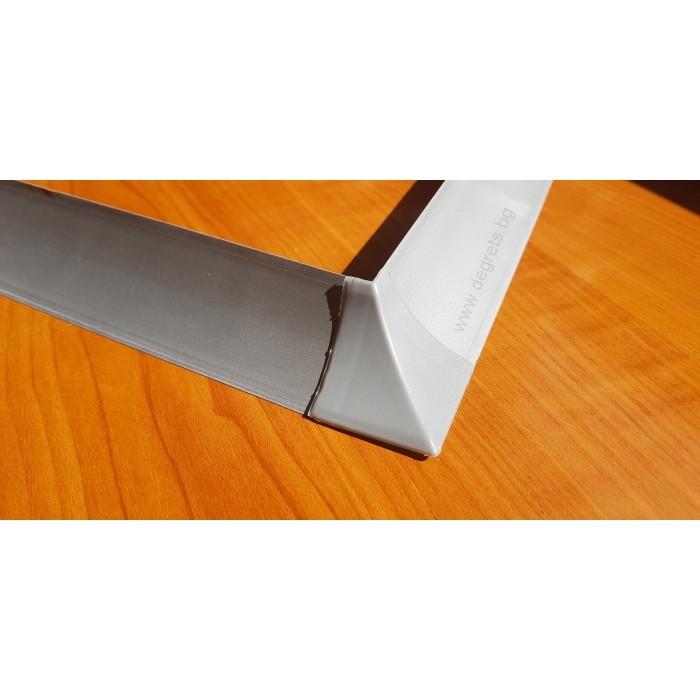 Външен ъгъл за водобранна лайсна сив металик
