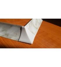 Външен ъгъл за водобранна лайсна бял Мрамор