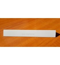Декоративен PVC ъгъл Бял 2.7 м