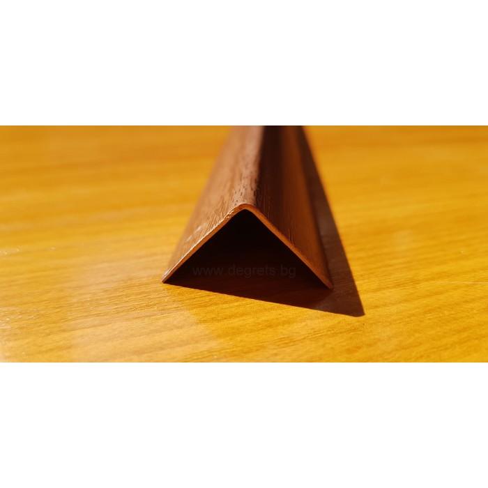 Декоративен PVC ъгъл Орех Тъмен 2.7 м