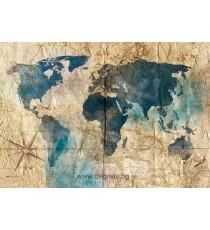 Фототапет Карта на света 5 3D XL
