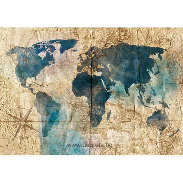 Фототапет Карта на света 5 3D L