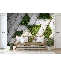 Фототапет Стена с трева 3D XL