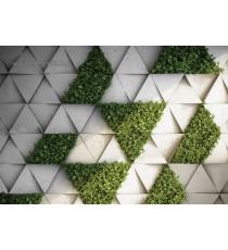 Фототапет Стена с трева 3D L
