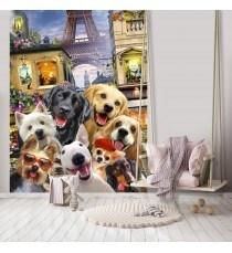 Фототапет Кученца - селфи 2 3D