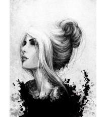 Фототапет Жена - черно и бяло
