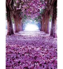 Фототапет Лилава пътека от цветя 3D L 2