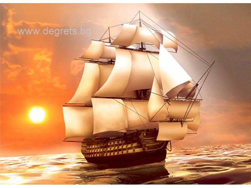 Фототапет Бял кораб