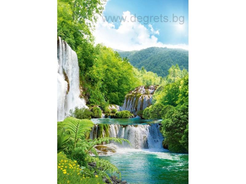 Фототапет Водопад каскада