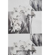 Тапет PVC Орхидея бял