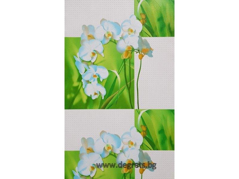 Тапет PVC Орхидея зелен