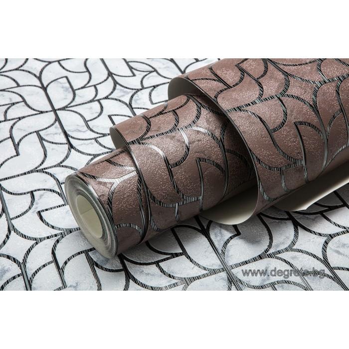 Тапет винил Плетка 3D кафяв