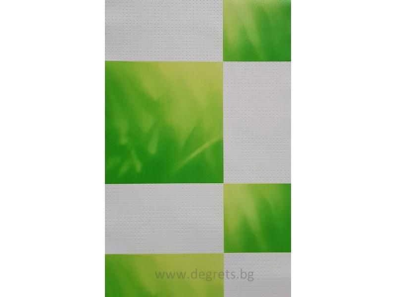 Тапет PVC Плочки зелен