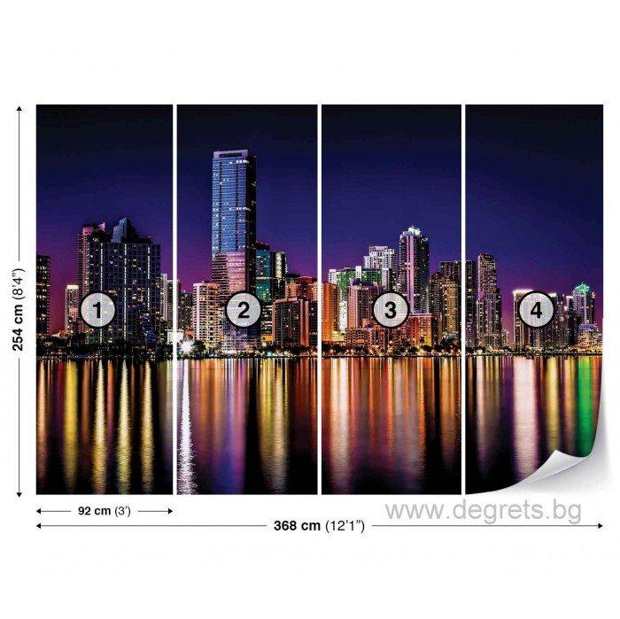 Фототапет Ню Йорк - нощен изглед XL