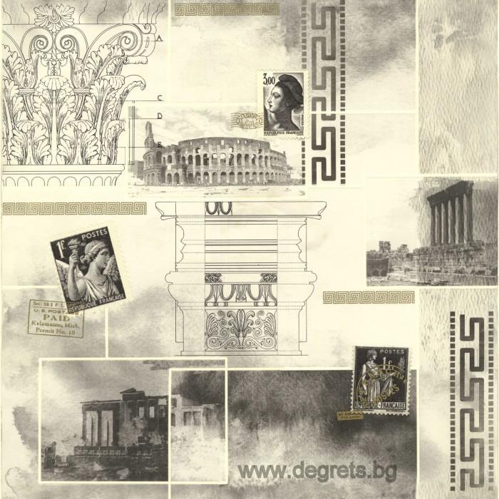 Тапет ПВЦ Рим - Версаче сив