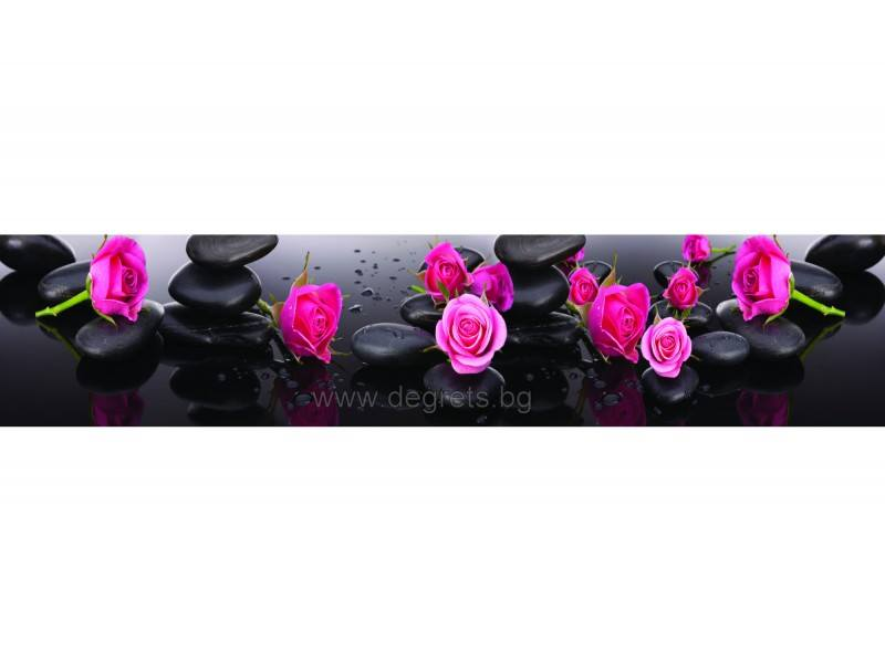 Пано Лилави рози 1