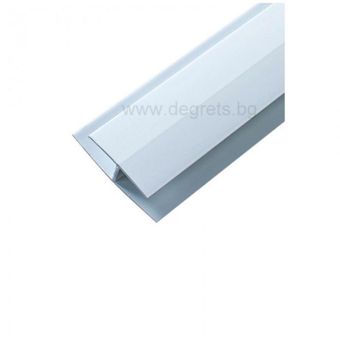 PVC профил съединителен бял 3 метра