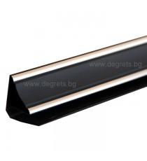 PVC профил декоративен Черен Сребро 3 метра