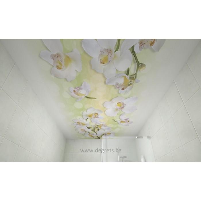 PVC ламперия Орхидея декор 3D ефект