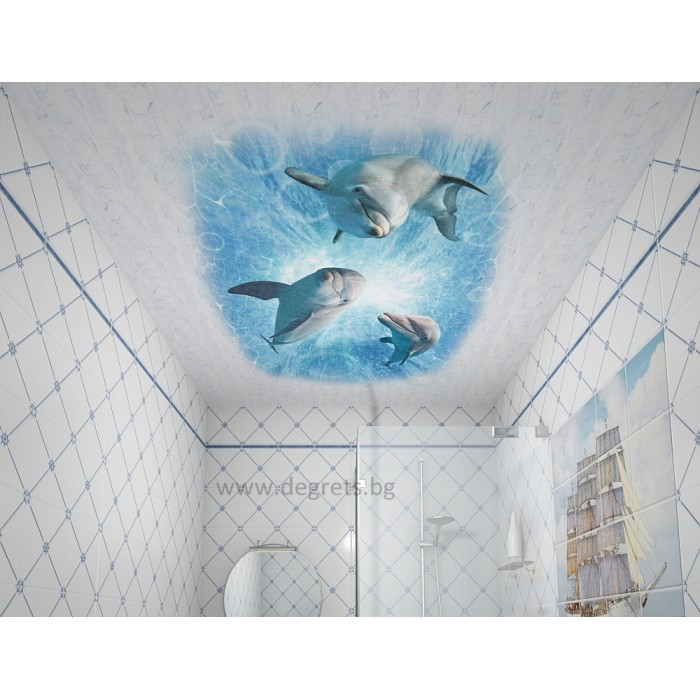 PVC ламперия Делфини декор 3D ефект
