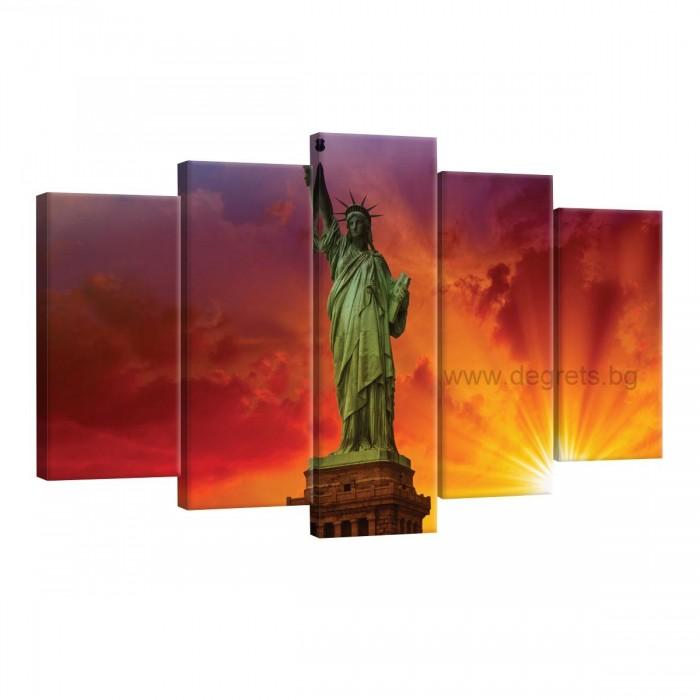Картина Канава Статуята на свободата Сет 5 части