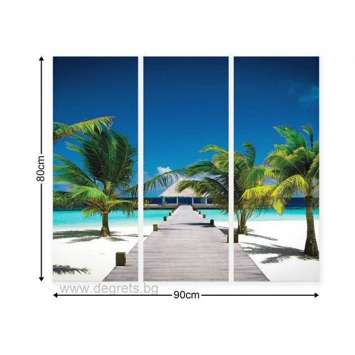Картина Канава Плажен курорт Сет 3 части