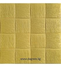 Самозалепващ 3D тапет злато Квадрати