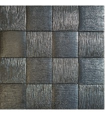 Самозалепващ 3D тапет черен Квадрати