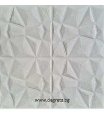 Самозалепващ 3D тапет бял Кожа