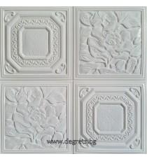 Самозалепващ 3D тапет бял Цветя