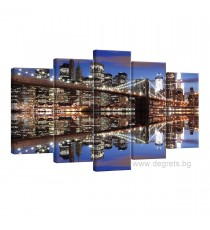 Картина Канава Бруклински мост 5 Сет 5 части