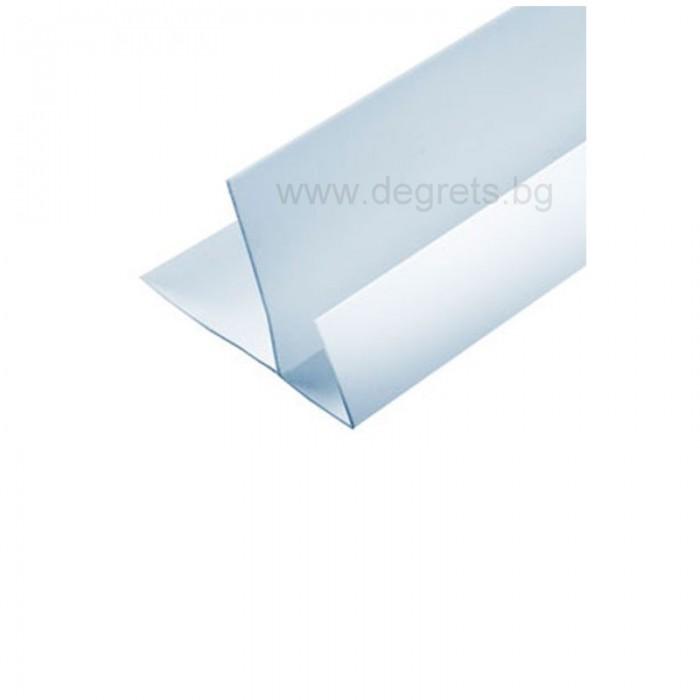 PVC профил F бял 3 метра
