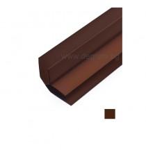PVC профил вътрешен ъгъл кафяв 3 метра