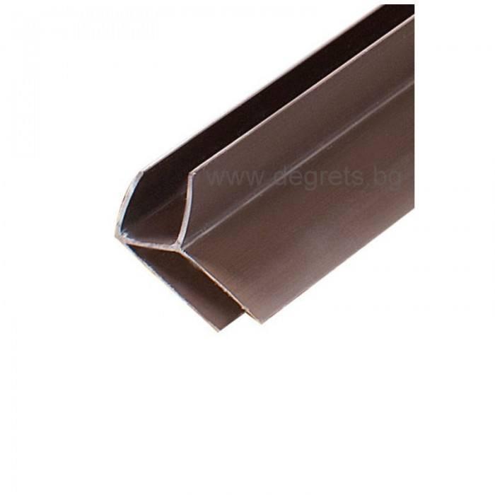 PVC профил външен ъгъл кафяв 3 метра