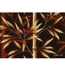 Тапет PVC Бамбук кафяв
