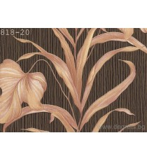 Тапет PVC Палма кафяв