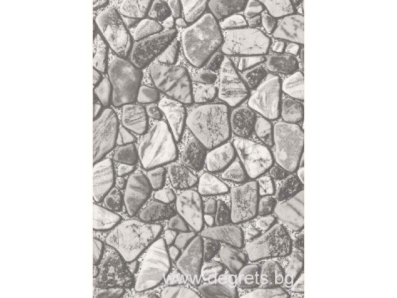 Тапет влагоустойчив Камъчета сив