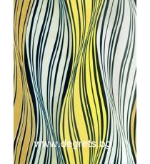 Фолио Вълна бяло-жълта 3Д