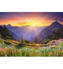 Фототапет Изгрев в планината