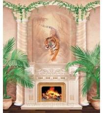 Фототапет Камина тигър