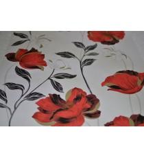Тапет хартиен Есения бял-червен