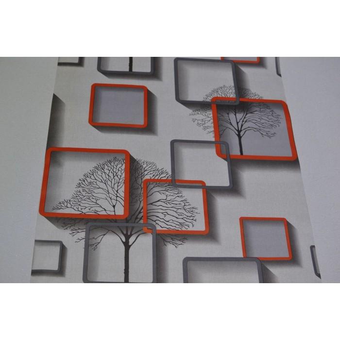 Тапет хартиен Нелми 3D сив