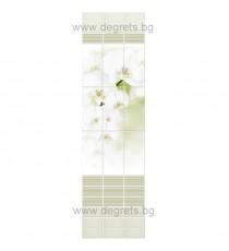 PVC ламперия Орхидея бял шарка 3D ефект