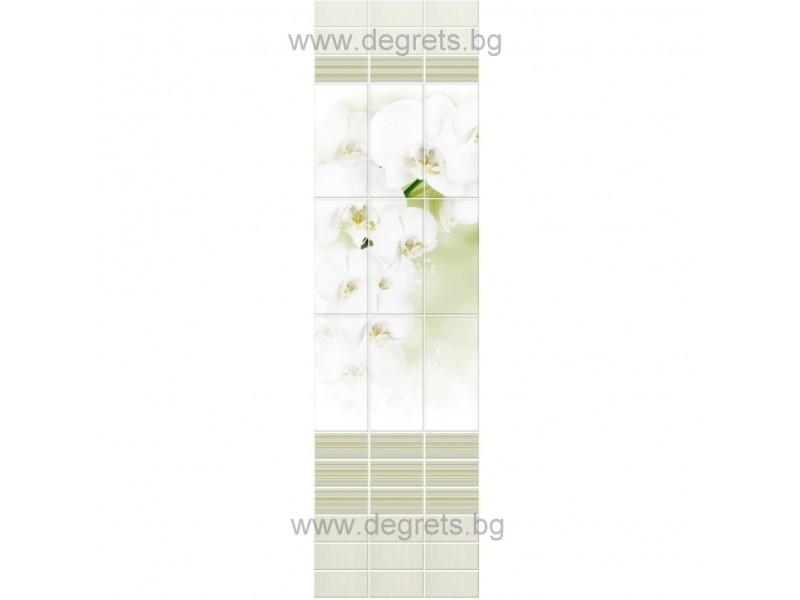 PVC ламперия Орхидея св. зелена шарка 3D ефект