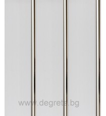 PVC ламперия Сребро