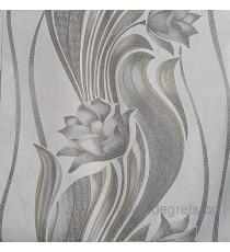 Тапет хартиен Нора сив-злато