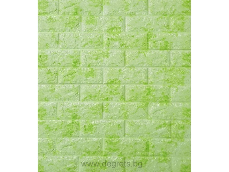 Самозалепващ 3D тапет зелен Мрамор