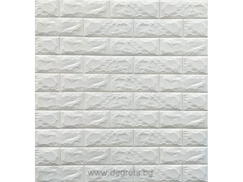 Самозалепващ 3D тапет бял
