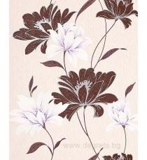Тапет  винил Ния кафяво цвете